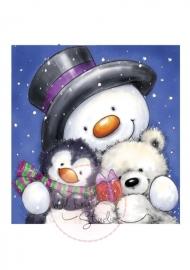 Wild Rose Studio stamp set Snowman Hugs CL271