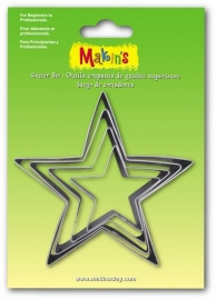 Makin's Clay Tin Cutter Star 4 PC Set (36504)