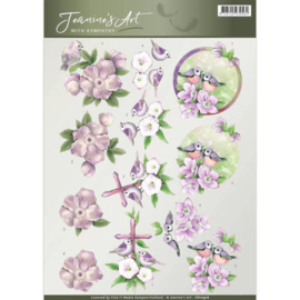 Jeanine's Art - With Sympathy - Birds and Flowers CD10916