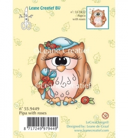 Leane  Clear Stamp - Pipa with roses