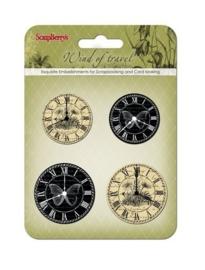 ScrapBerry's Clock Wind Of Travel  (SCB34001071)