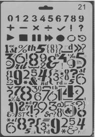 Sjabloon cijfers en tekens 21