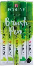 Ecoline Brush pen set Green