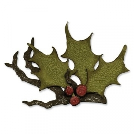 Bigz die Tim Holtz holly branch