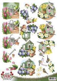 3D Knipvel - Amy Design - Spring - Garden CD10607