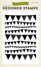 Echo Park Pennant 4x6 Inch Clear Acrylic Designer Stamps (EPStamp58)