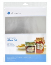 Printable silver foil  pakket van 8 vellen