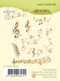 LeCreaDesign® combi clear stamp Music 55.5701
