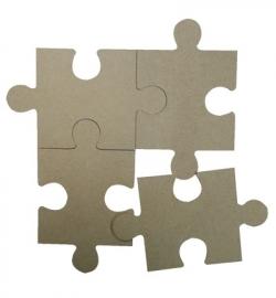 MDF Puzzelstukken 4st 125 x 120 mm