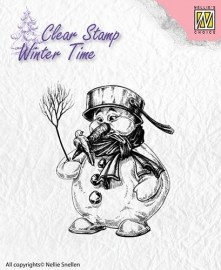 NS Clear Stamps - Winter Time - Snowman  WT001