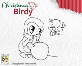 NS Clear Stamp Christmas Birdie - Teamwork BC004