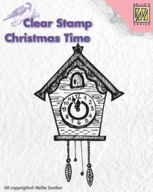 NS Clear stamps - Christmas Time - Clock CT012