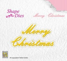 NS Shape Dies - Merry Christmas SD096