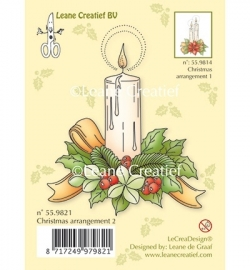 Leane Creatief  Clear Stamp - Christmas arr.2 with single candle 55.9821