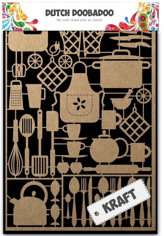 Dutch Doobadoo Dutch Paper Art Kraft - Kitchenware A5 479.002.004
