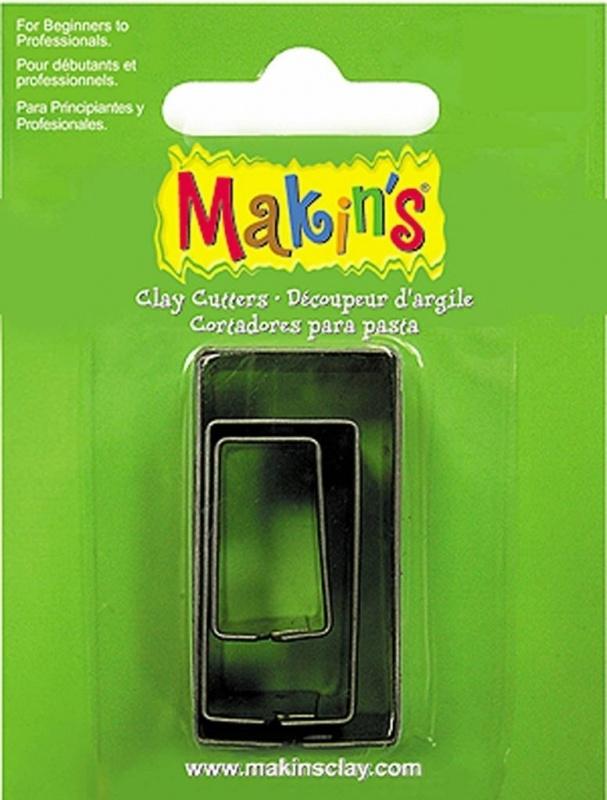 Makin's Clay Tin Cutter Rectangle 3 PC Set (36004)