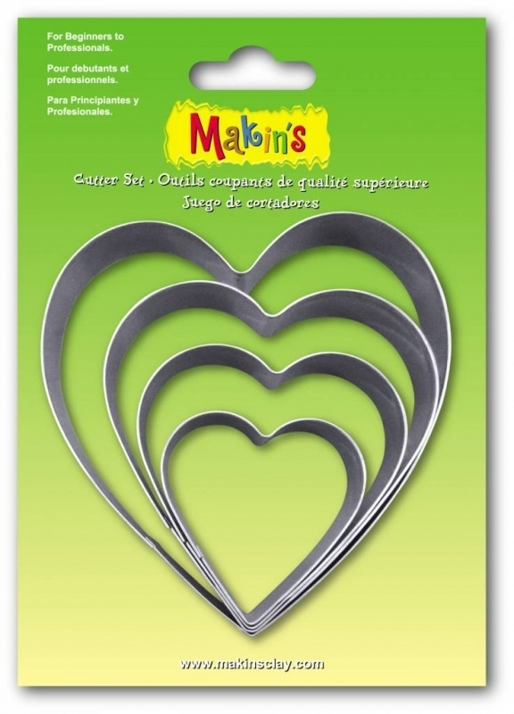 Makin's Clay Tin Cutter Heart 4 PC Set (36503)