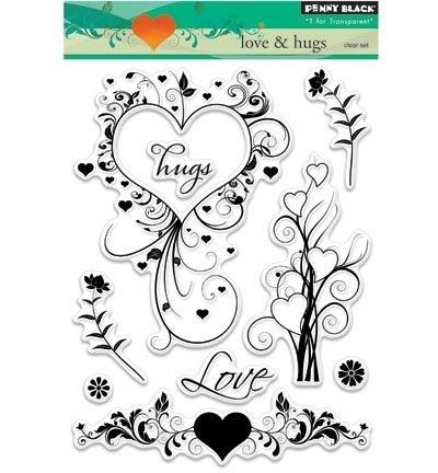 Penny Black Clearstamp Love & hugs 30324