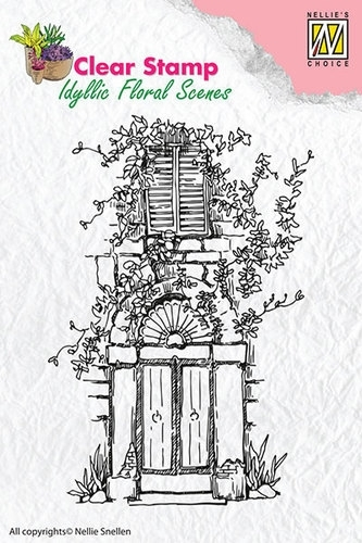 Nellie Snellen Clear Stamps - Door with bow & window IFS002