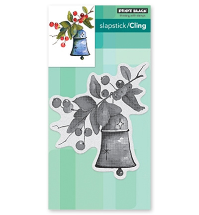 Penny Black Slapstick/Cling Stamp Bell & Berries 40-576