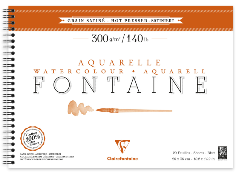 Fontaine Aquarelle 300gr/m² Hot Pressed