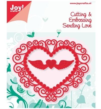 Joy! Cutting & Embossing - Hart + hart met vleugels 6002/0382