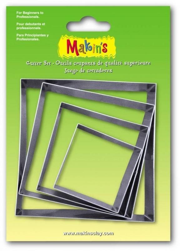 Makin's Clay Tin Cutter Square 4 PC Set (36502)