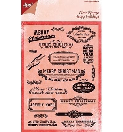 Joy Clearstamps Teks Merry Christmas (en) 6410/0106