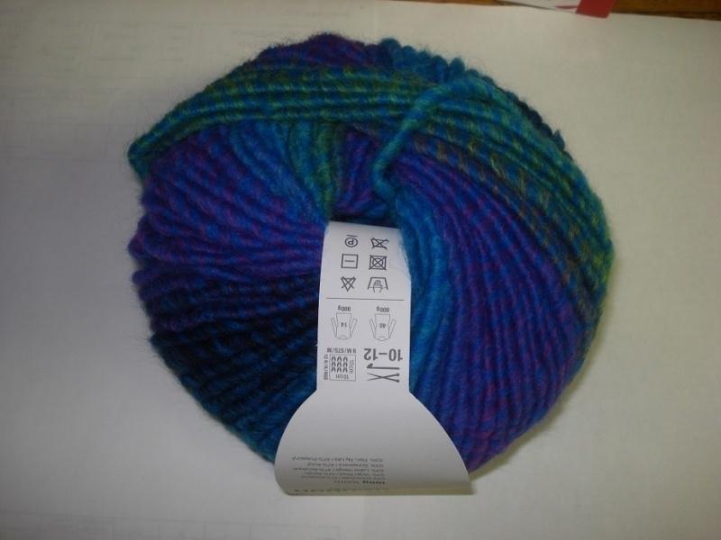 Creative Bonbon Super chunky Blauw/groen gemeleert 100gr