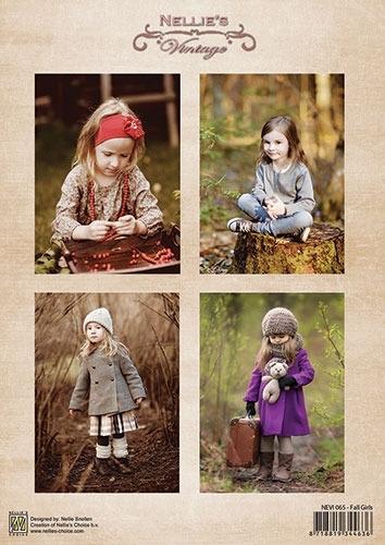 Nellie sheet vintage - Fall Girls NIVI065