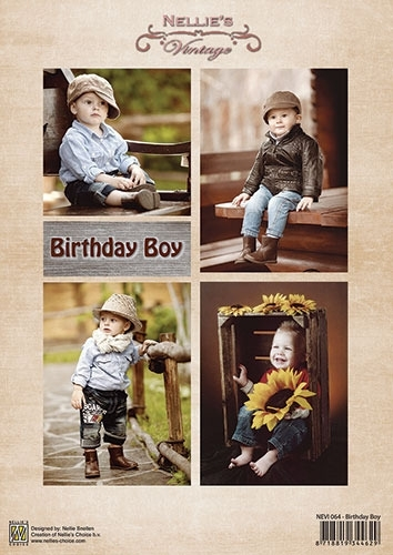 Decoupage sheet vintage - Birthday Boys NEVI064