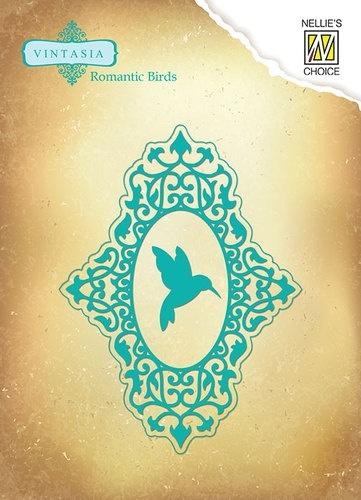 Vintasia Dies Romantic birds oval VIND041