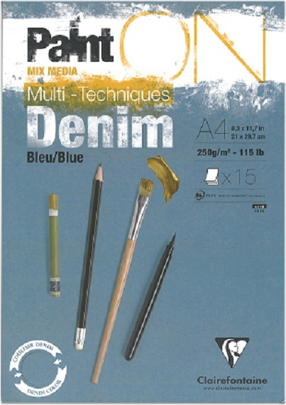 Paint'on Mix Media blok A4 Denim 250g/m² 15 vellen