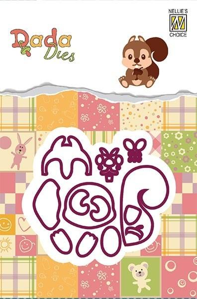 """DADA Dies Forest animals 'squirrel"""" DDD013"""