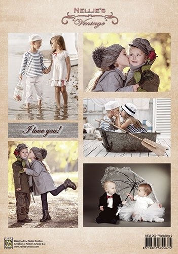 Nellie Decoupage sheet vintage - Wedding-2 NEVI069