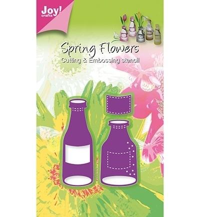 Joy! C & E  - Stencil fles (2st) en etiket 6002/0345