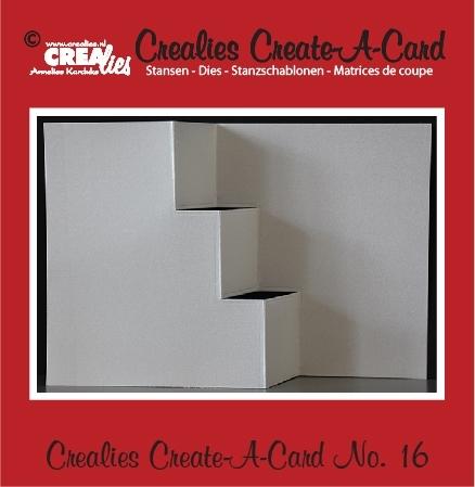 Crealies Create A Card no. 16 stans voor kaart CCAC16