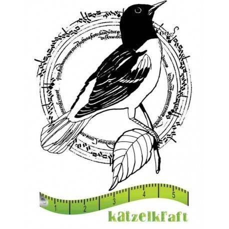 Rubber stamp Oiseau cercle - French style