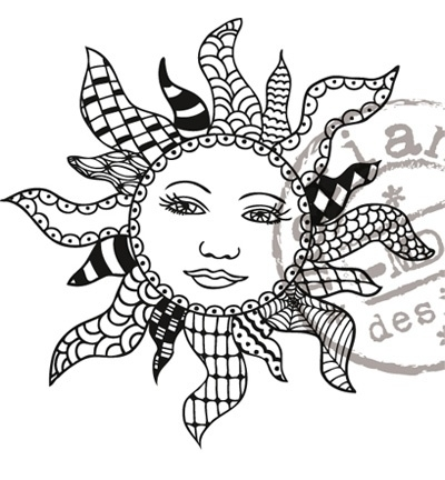 MD clearstamp Doodle sun EWS2208