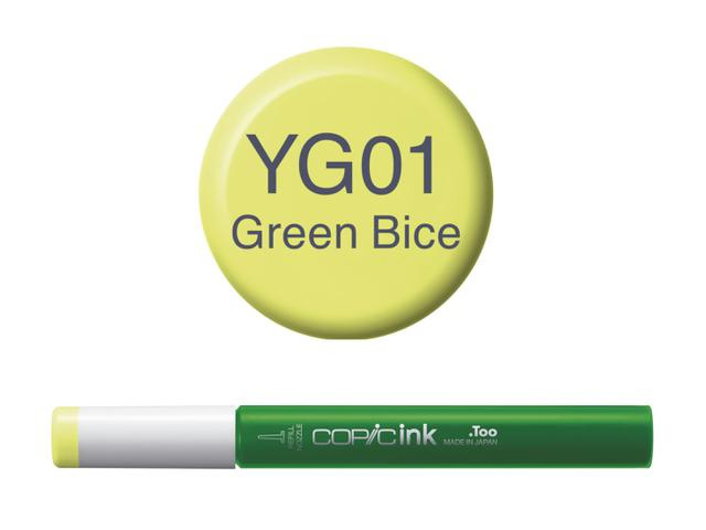 Copic ink Reffil  Green Bice YG01