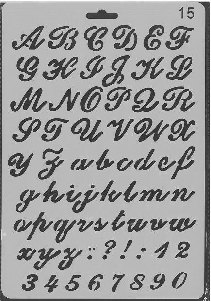 Sjabloon Alfabet 15