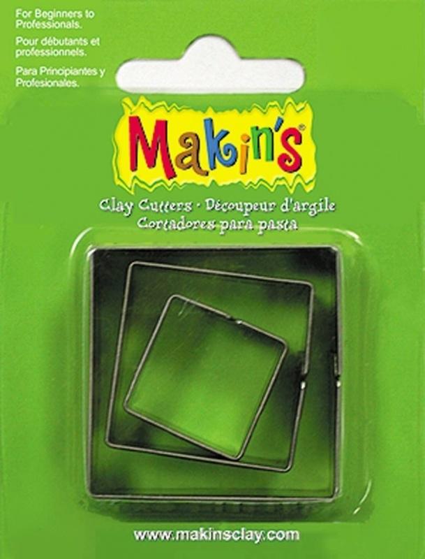 Makin's Clay Tin Cutter Square 3 PC Set (36002)