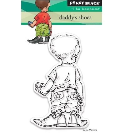 Penny Black Clearstamp Daddy's shoes 30360