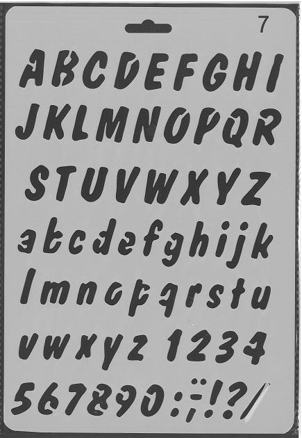 Sjabloon Alfabet 7