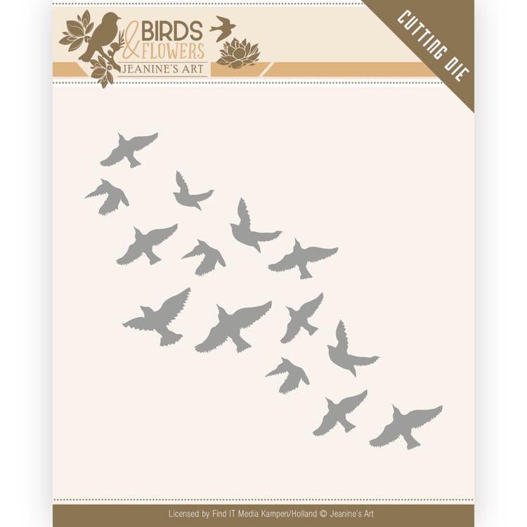 Dies - Jeanine's Art - Birds and Flowers - Flock of Birds JAD10061