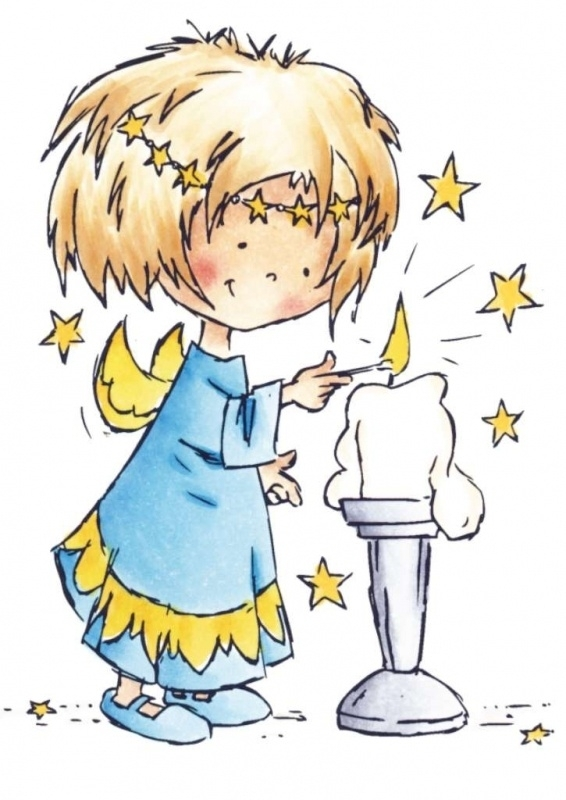 Stempel Daisy lighting a candle - DDS3338