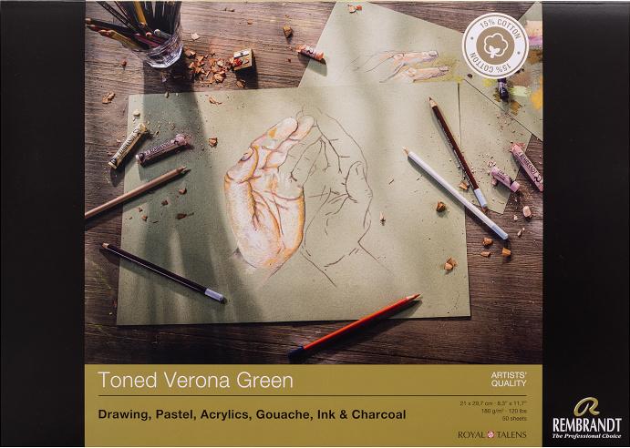 Rembrandt Toned Verona Green A4 50vellen
