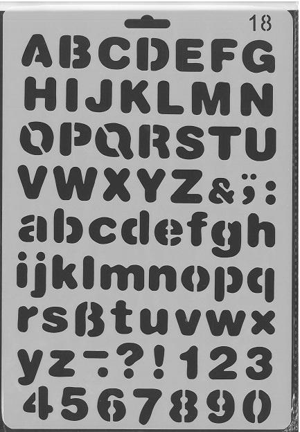 Sjabloon Alfabet 18