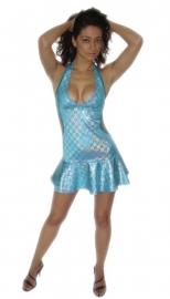 Aqua hologrammen jurkje