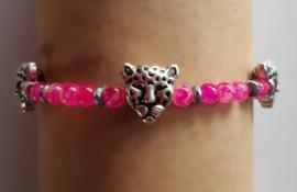 Panter roze armbandje